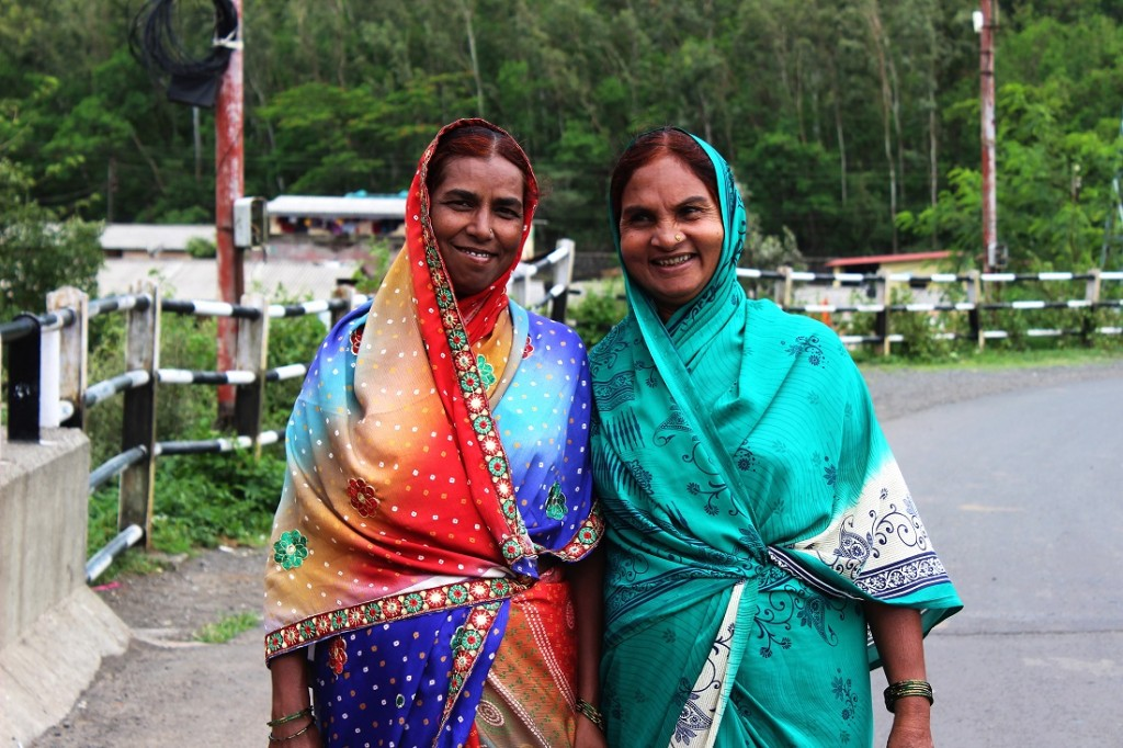 These local women were wearing the such beautiful saris and beautiful smiles; I had to capture them!