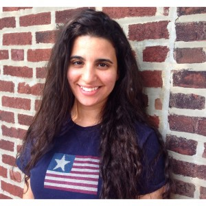 """""""Hello, it's me, Najah Yasin."""" Rocking my vintage one star American flag T-shirt ready to take on Tokyo!"""
