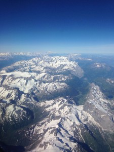 While on our way to Florence there was a fantastic view of the Swiss Alps.
