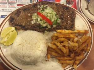 An example of a typical hispanic meal
