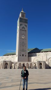 At the Hassan Mosque in Casablanca, Morocco.